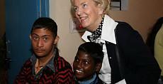 Gerda Beuk op bezoek bij kindertehuis India
