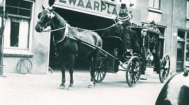Beuk anno 1906-1915, rouw en trouwvervoer met paard en wagen