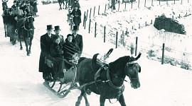 Beuk anno 1936-1945, trouwen met arrensledes, Noordwijk, Fam. Peeperkorn