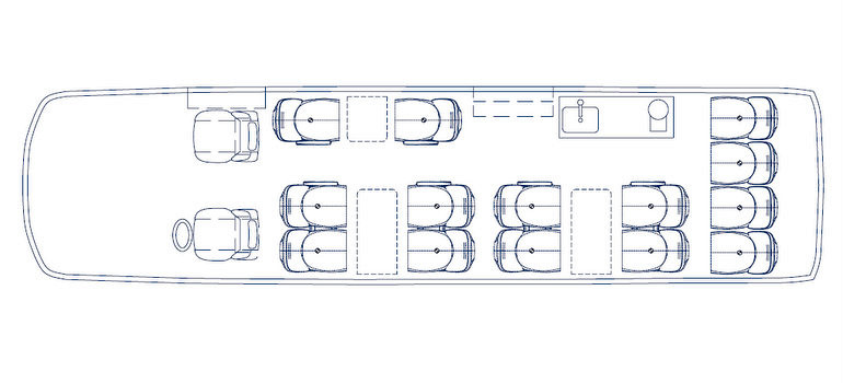 Koninklijke Beuk, VIP vervoer - VIP l'Etoile, plattegrond