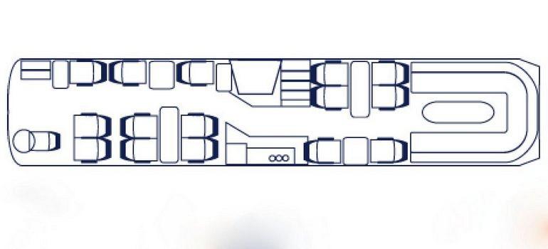 Koninklijke Beuk, VIP vervoer - VIP d'Elegance, plattegrond