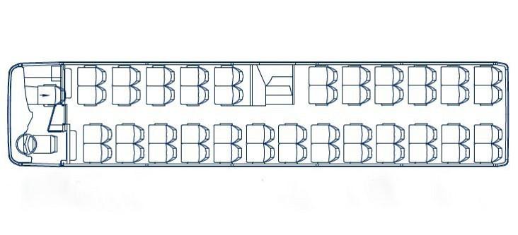 Koninklijke Beuk, Comfort Class vervoer - Stijlvolle standaard, plattegrond