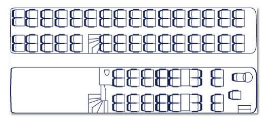 Koninklijke Beuk, Comfort Class vervoer, Dubbeldekker plattegrond