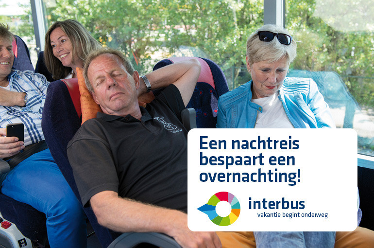 Pendelreizen, Beuk Touringcars, Interbus, vakantie begint onderweg, busreis