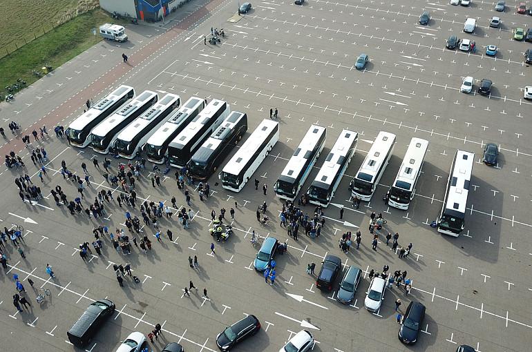 Koninklijke Beuk, Supportersvervoer, supportersbus