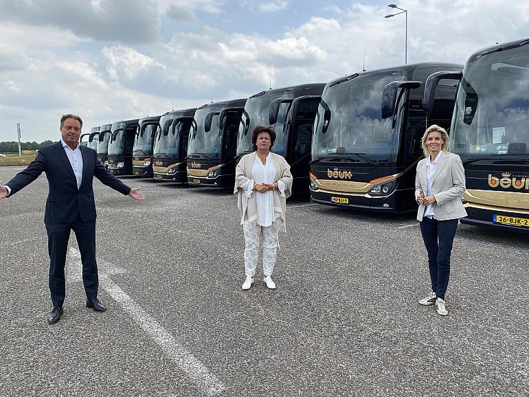 Burgemeester Wendy Verkleij, Eric en Monique Beuk, Koninklijke Beuk, Noordwijk